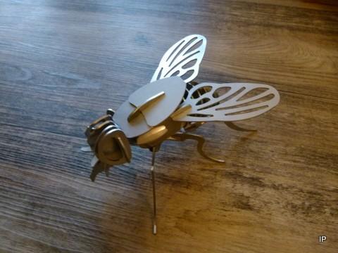 Edelstahl Fliege 3D